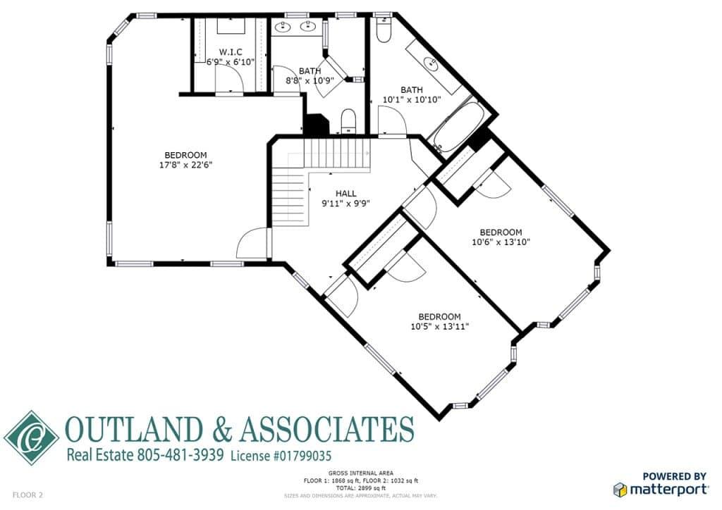 8775 Casanova Road Atascadero Ca 93422 Level Two Floor Plan